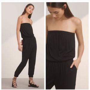 Aritzia Talula Black Strapless Jumpsuit Sz XXS